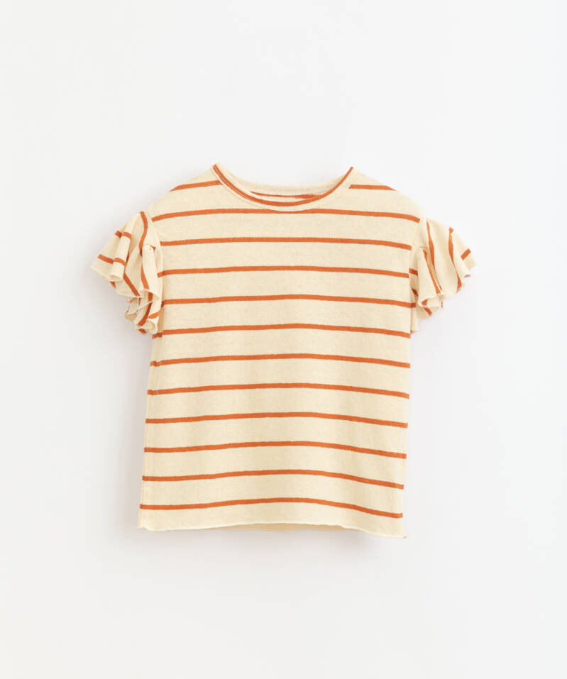 Play Up Striped Jersey T-Shirt - Anise