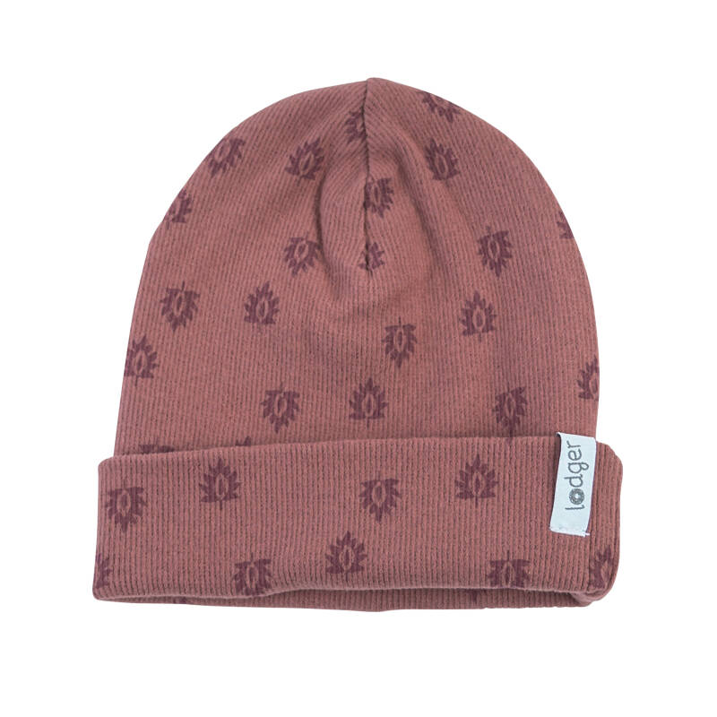 Lodger Beanie Nomad Rib - Rosewood