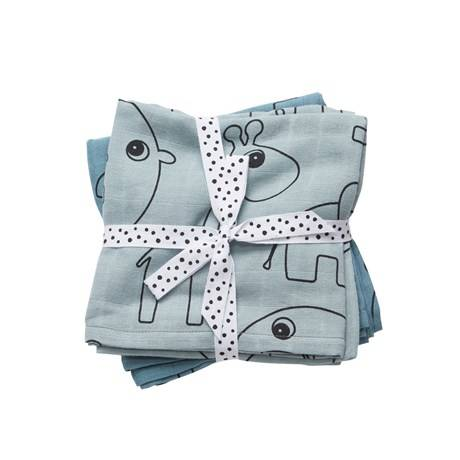Done by deer swaddle 2-pack contour - Blauw
