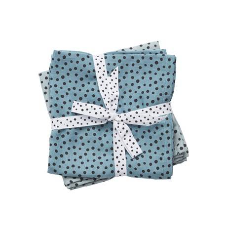 Done by deer swaddle 2-pack happy dots - Blauw