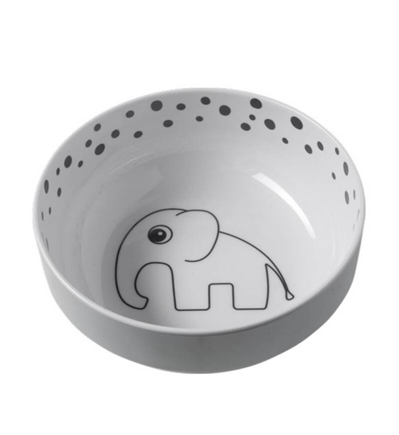 Done by deer yummy bowl happy dots grijs