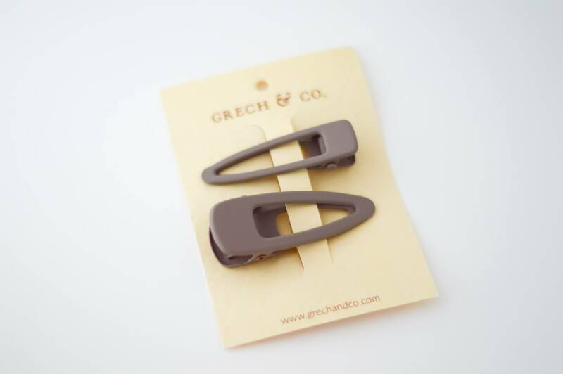 Grech & Co matte clips set van 2 - Stone