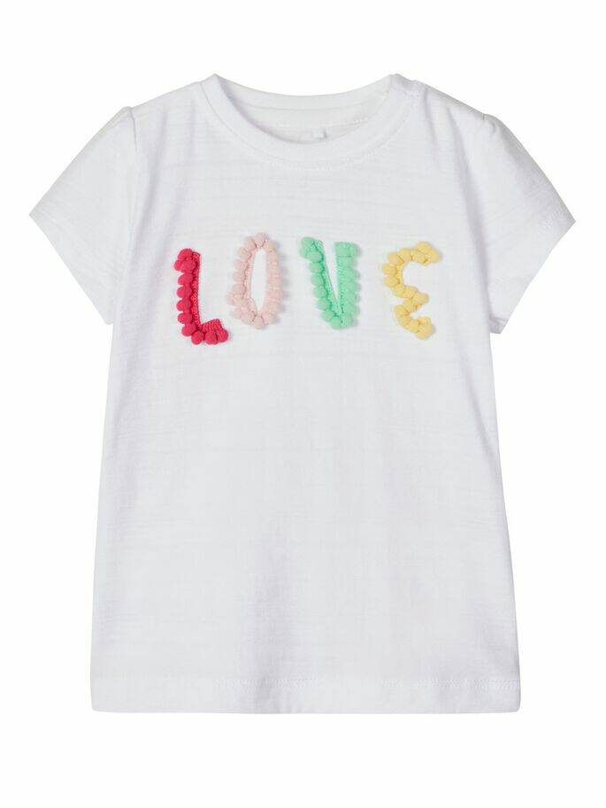 Name It t-shirt 'love' Henny wit