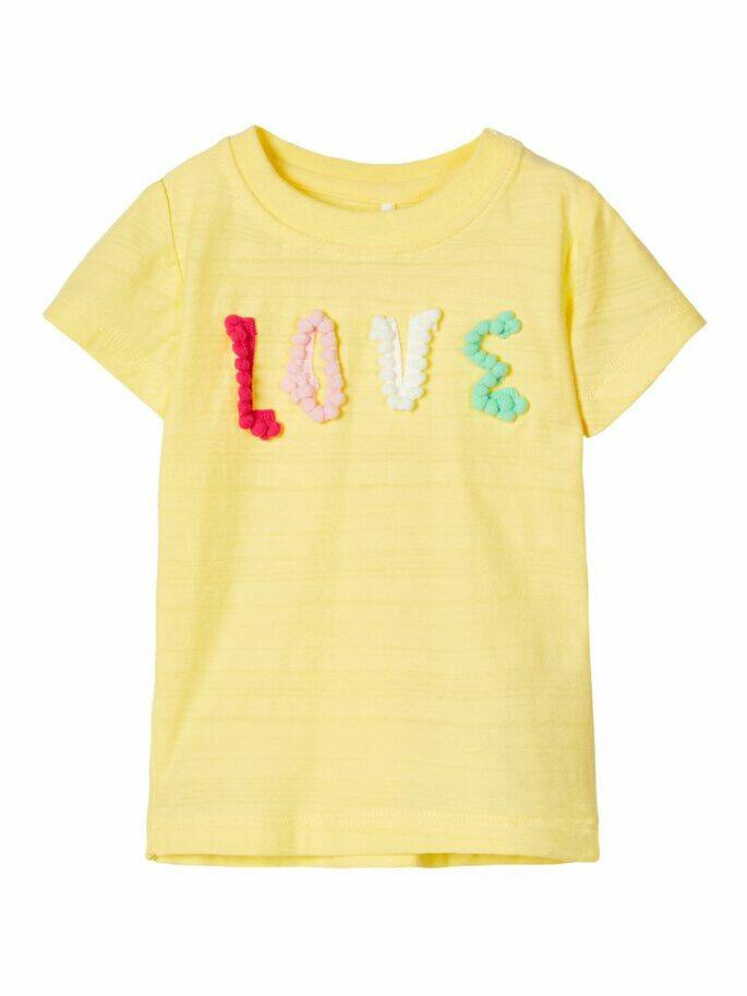 Name It t-shirt 'love' Henny geel