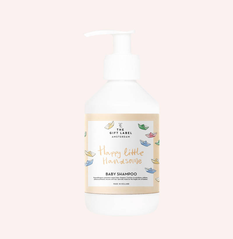 The Gift Label babyshampoo bootjes 'happy little'