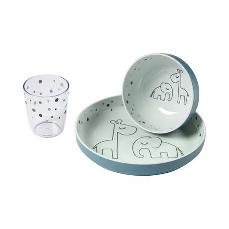 Done by deer yummy mini dinner set, dreamy dots blauw
