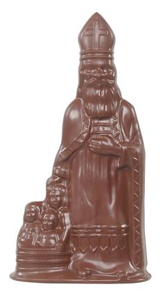 Grote chocolade sint