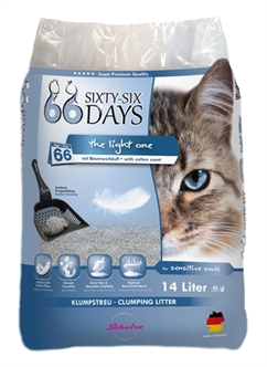 Kattenbakvulling 66 days Cotton light 14 liter