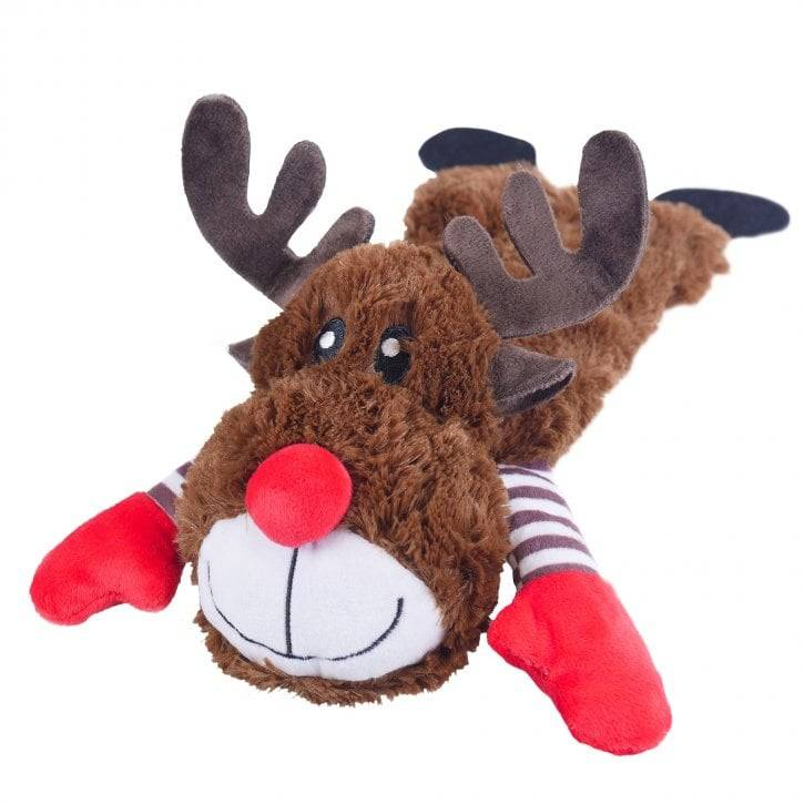 Cupid & Comet Christmas Reindeer With Treats 35cm