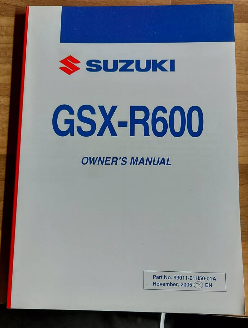 Owner's manual - 9901101H5001A - GSXR600
