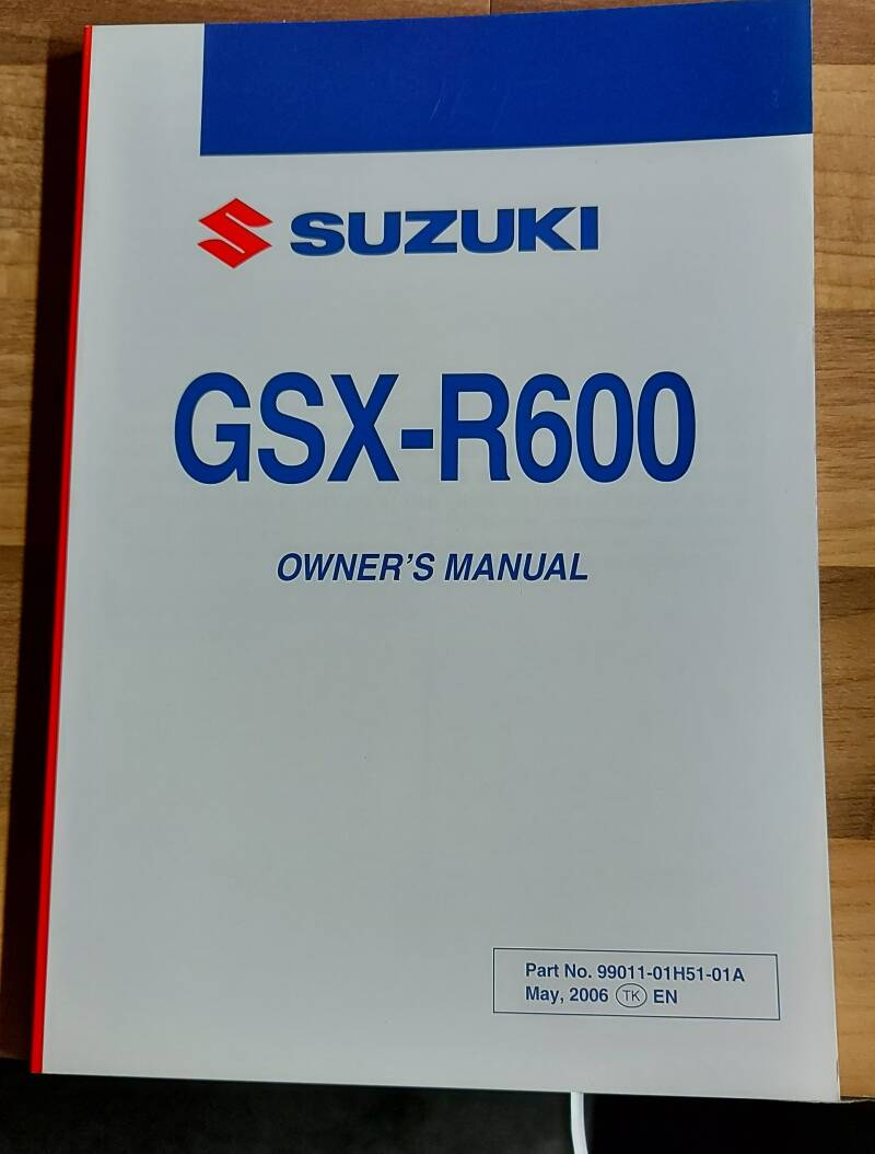 Owner's manual - 9901101H5101A - GSXR600