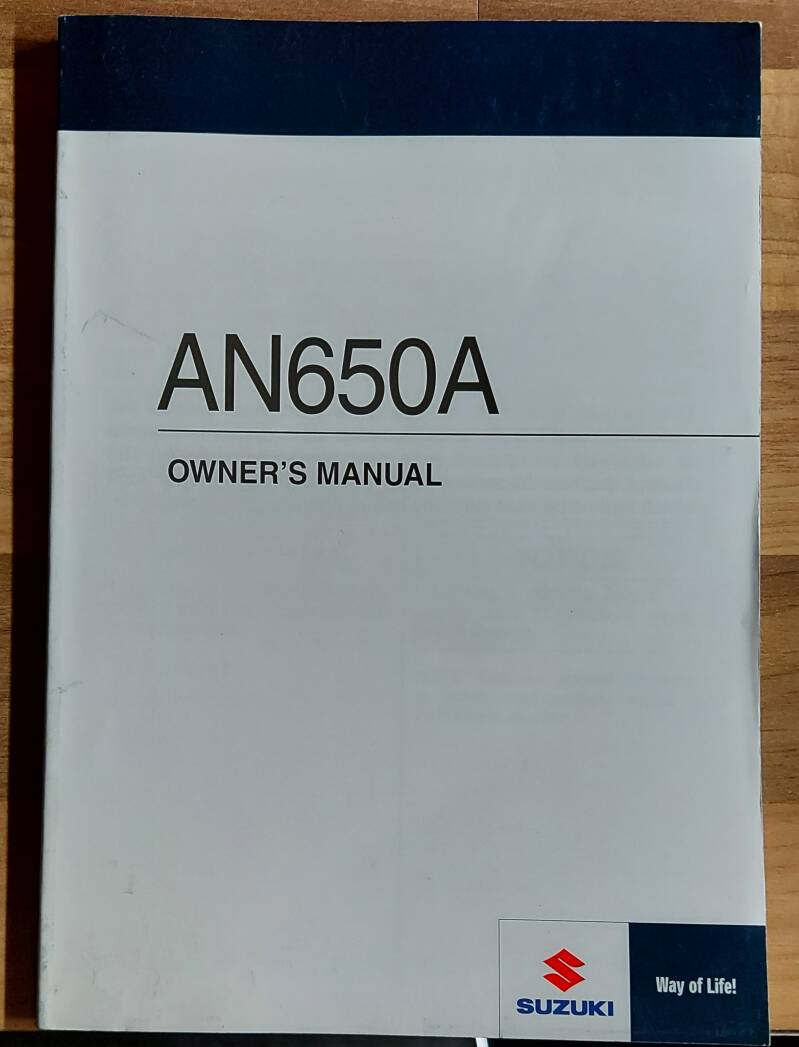 Owner's manual - 9901110G7701A - AN650A
