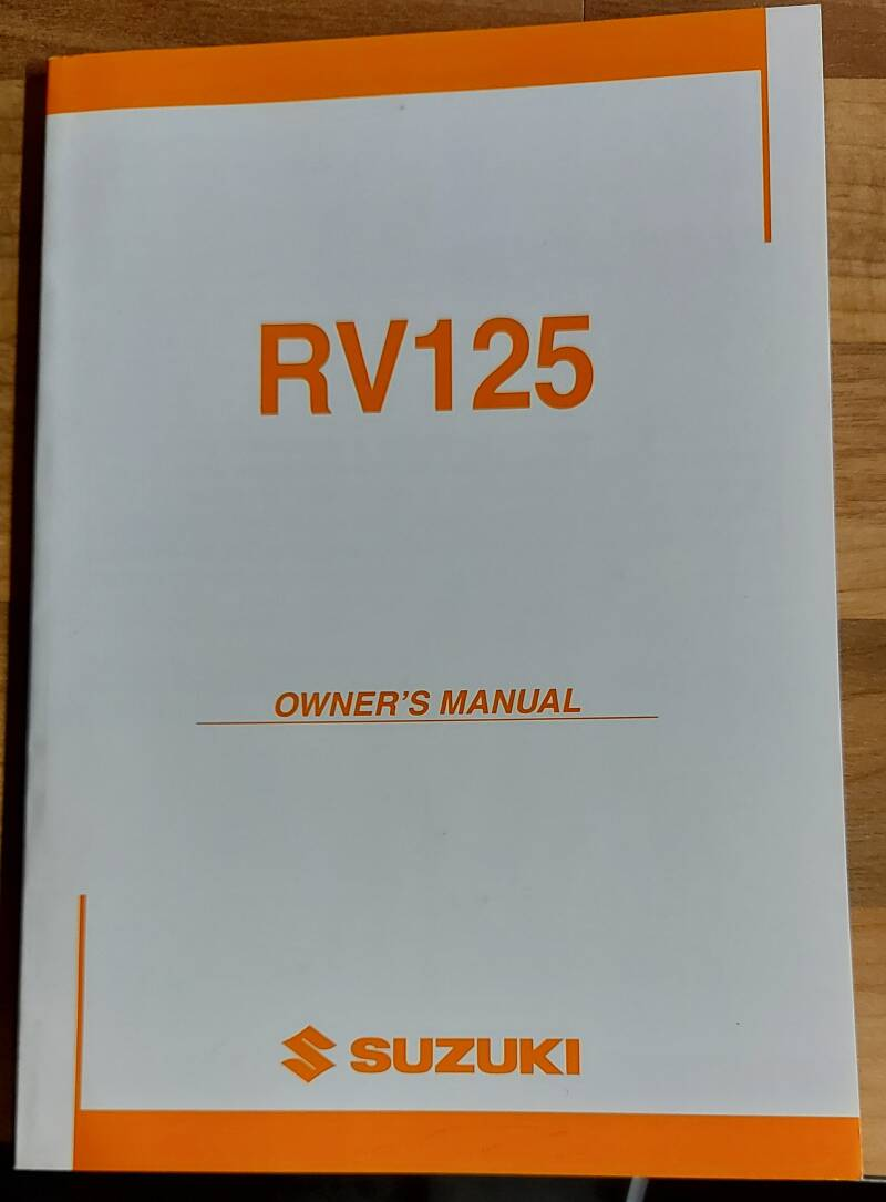 Owner's manual - 9901113G6101A - RV125