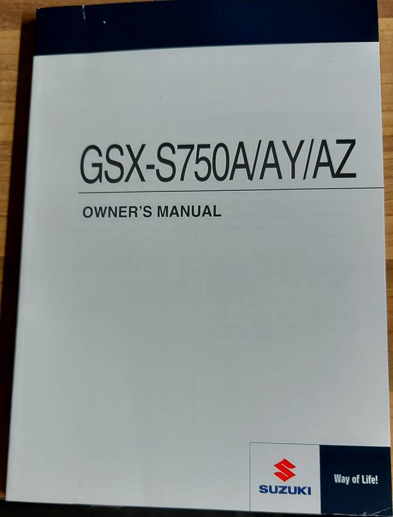 Owner's manual - 9901113K5301A - GSX-S750A/AY/AZ
