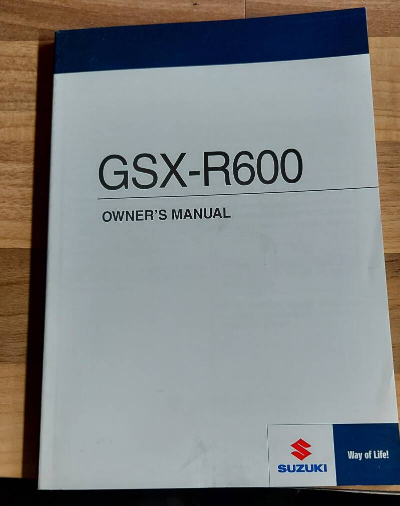 Owner's manual - 9901114J5001A - GSXR600