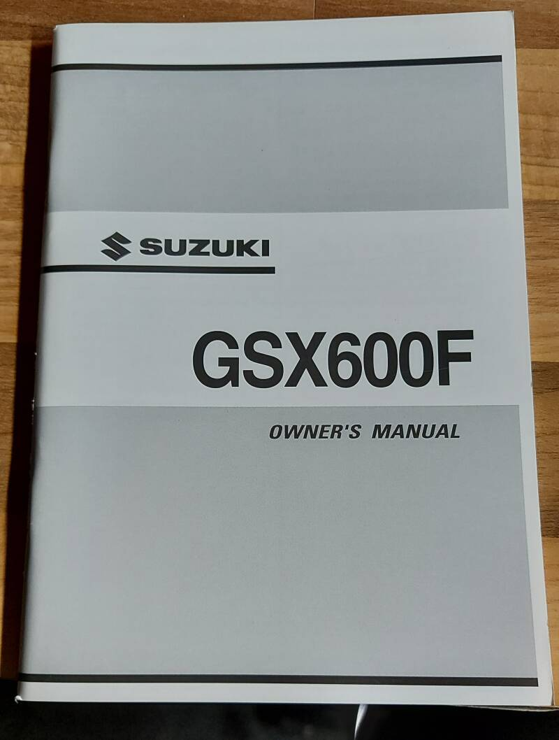 Owner's manual - 9901119C6501A - GSX600F