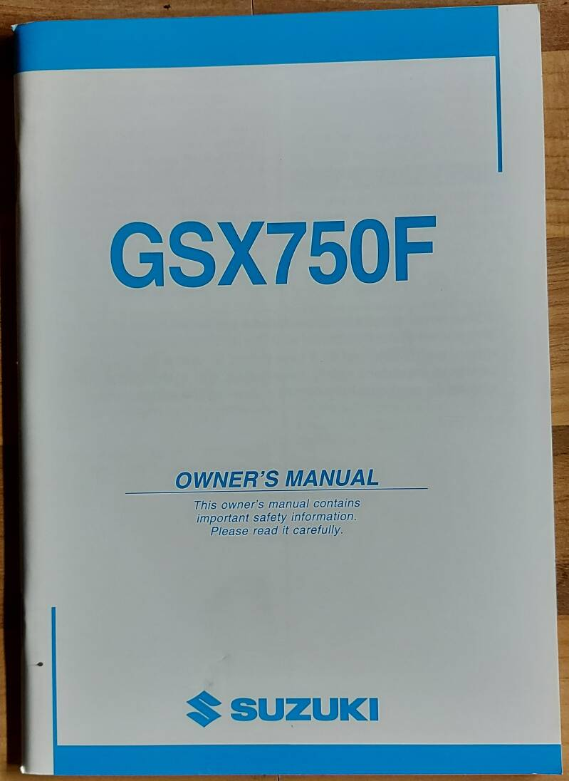 Owner's manual - 9901120C6601A - GSX750F