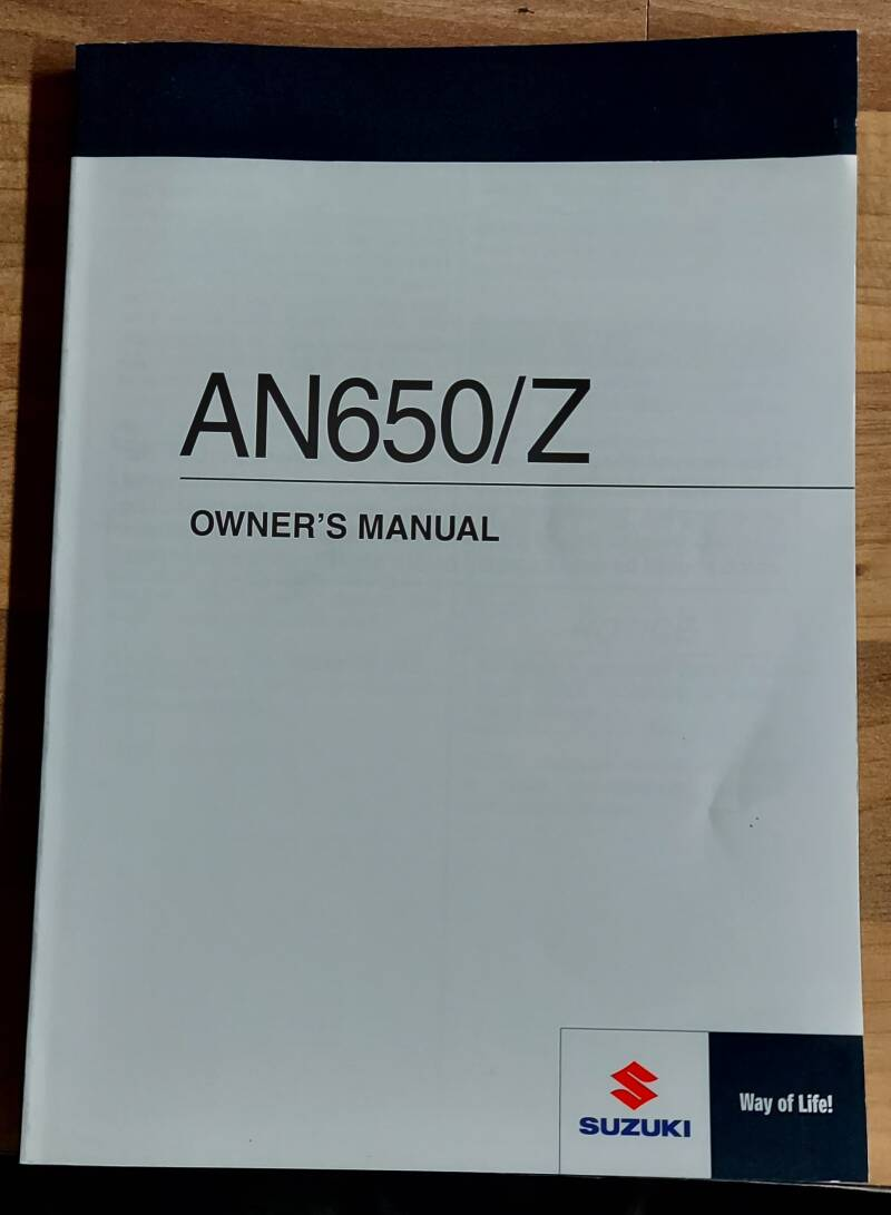 Owner's manual - 9901126J5301A - AN650/Z