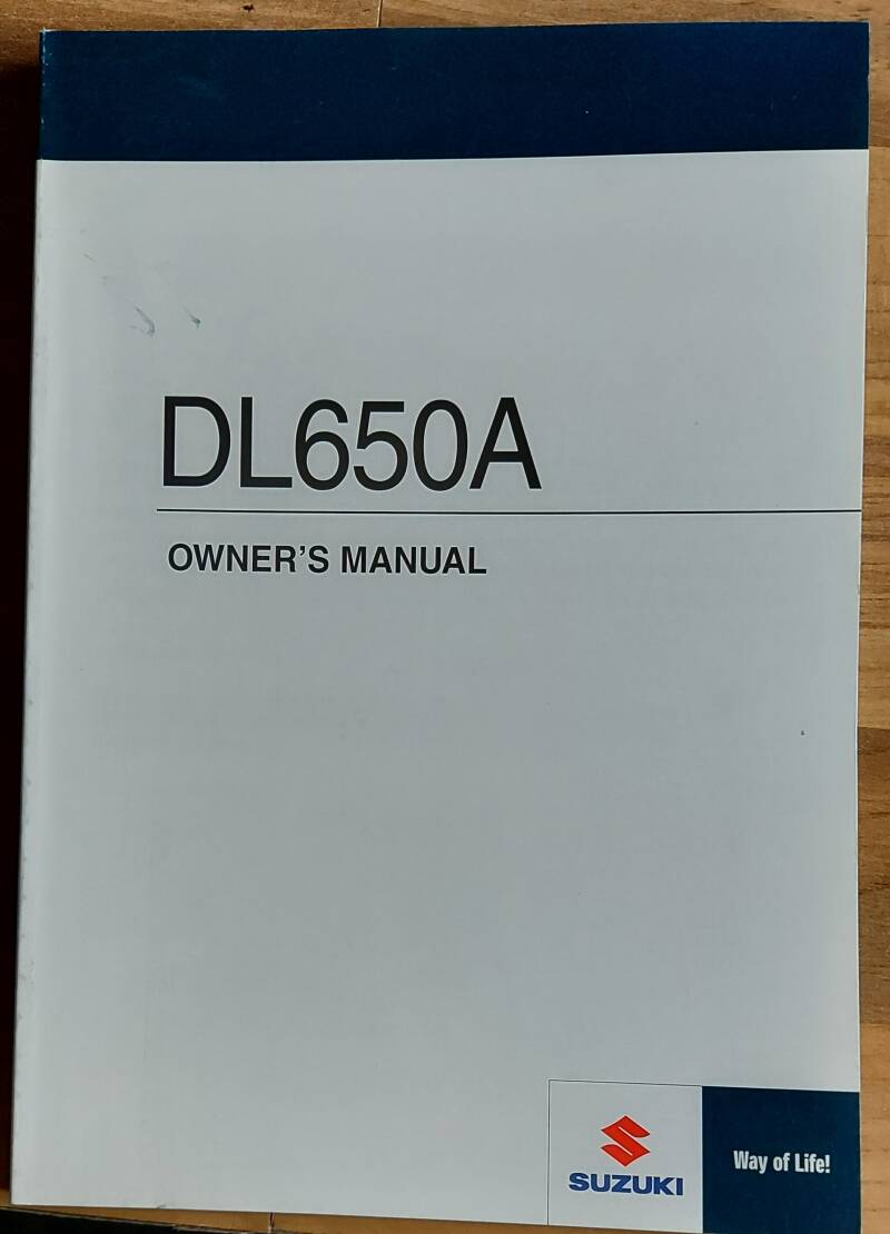 Owner's manual - 9901111J6201A - DL650A