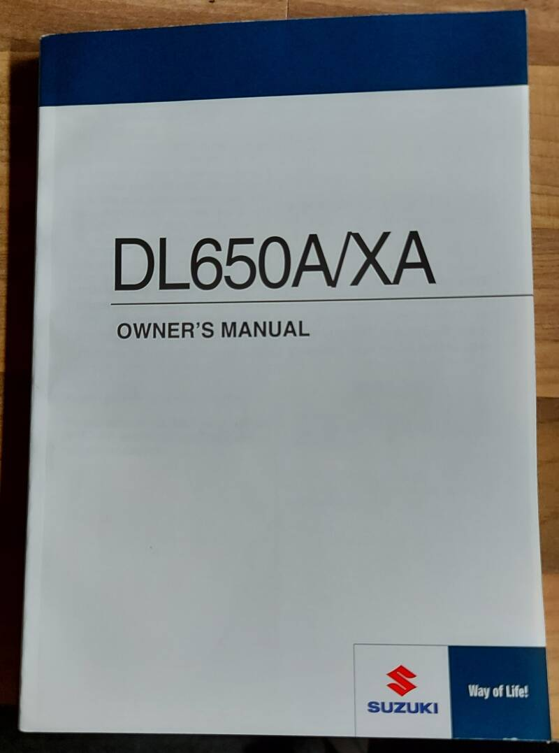 Owner's manual - 9901128K5301A - DL650A/XA