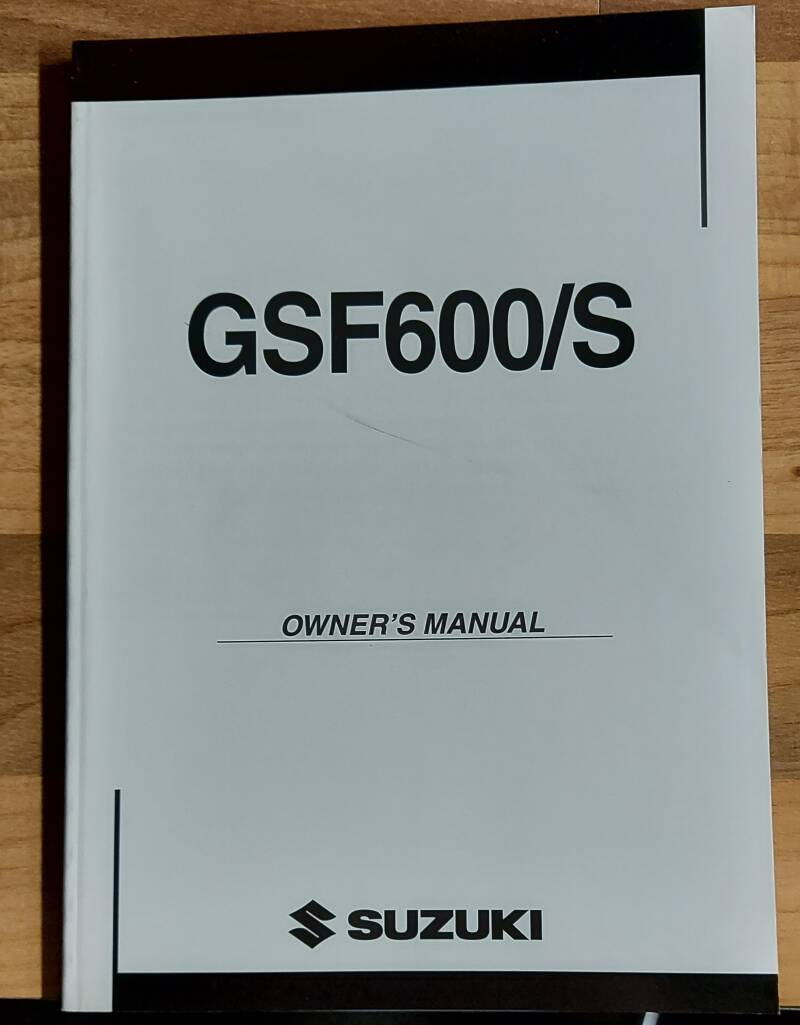 Owner's manual - 9901131F5401A - GSF600/S