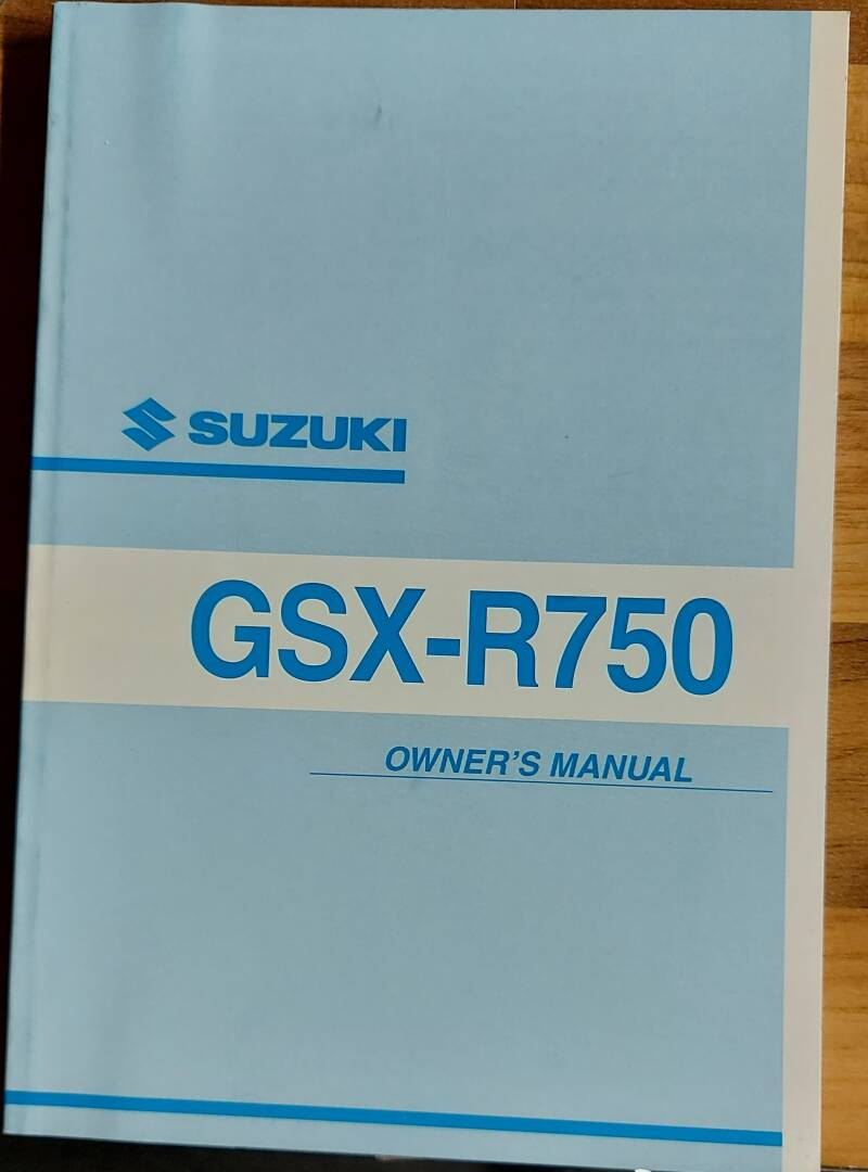 Owner's manual - 9901133F5101A - GSX-R750