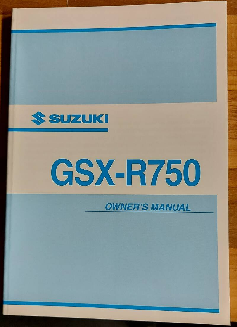 Owner's manual - 9901133F5201A - GSX-R750