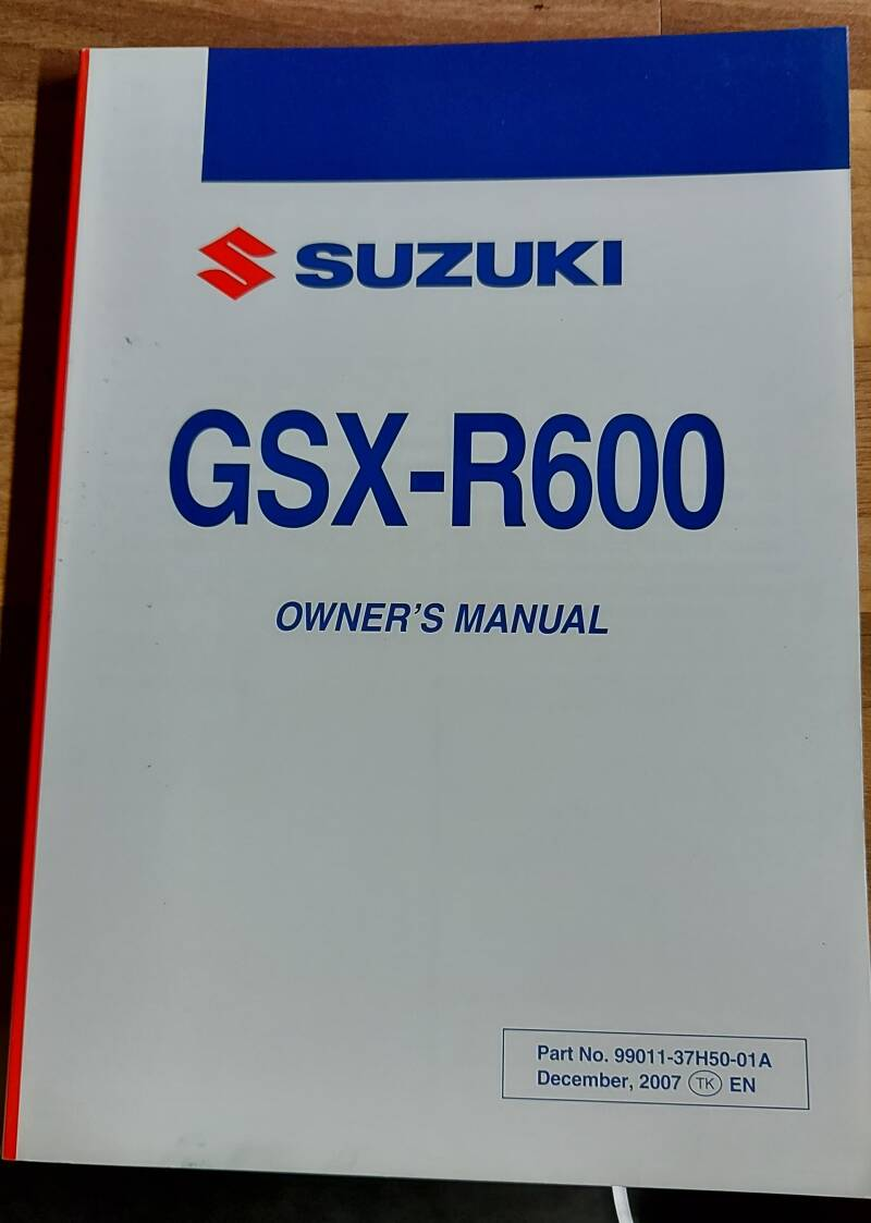 Owner's manual - 9901137H5001A - GSXR600