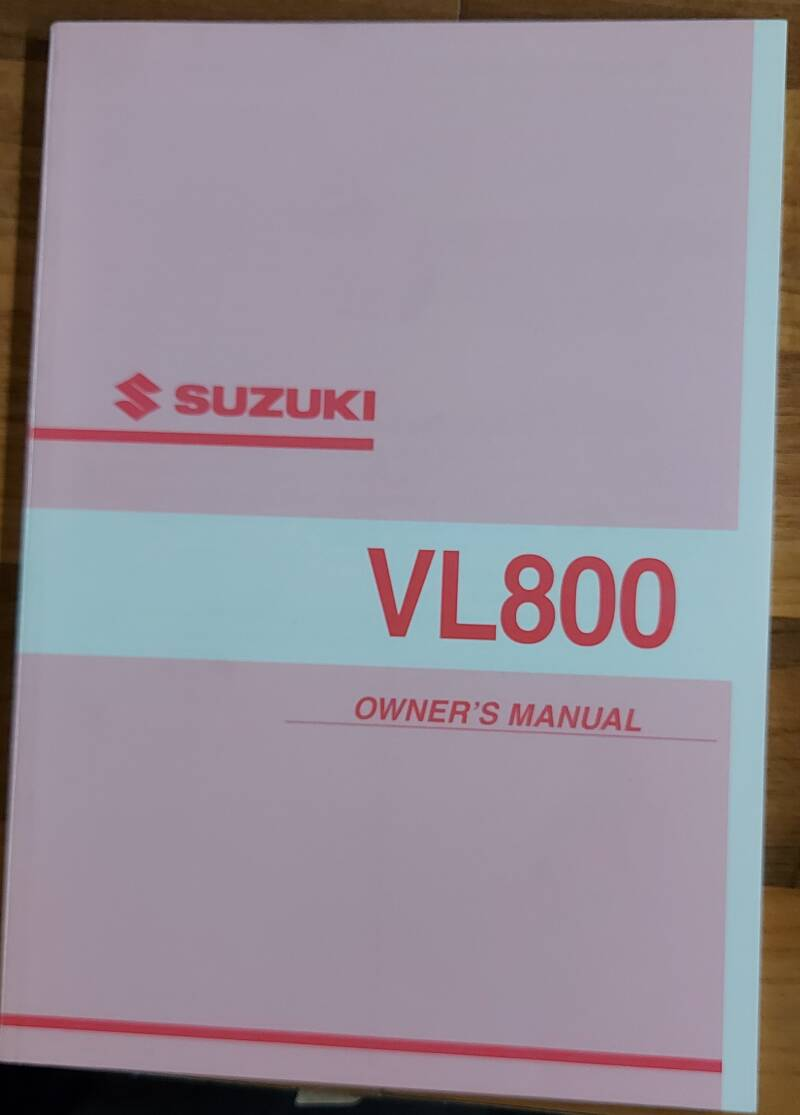 Owner's manual - 9901141F5101A - VL800