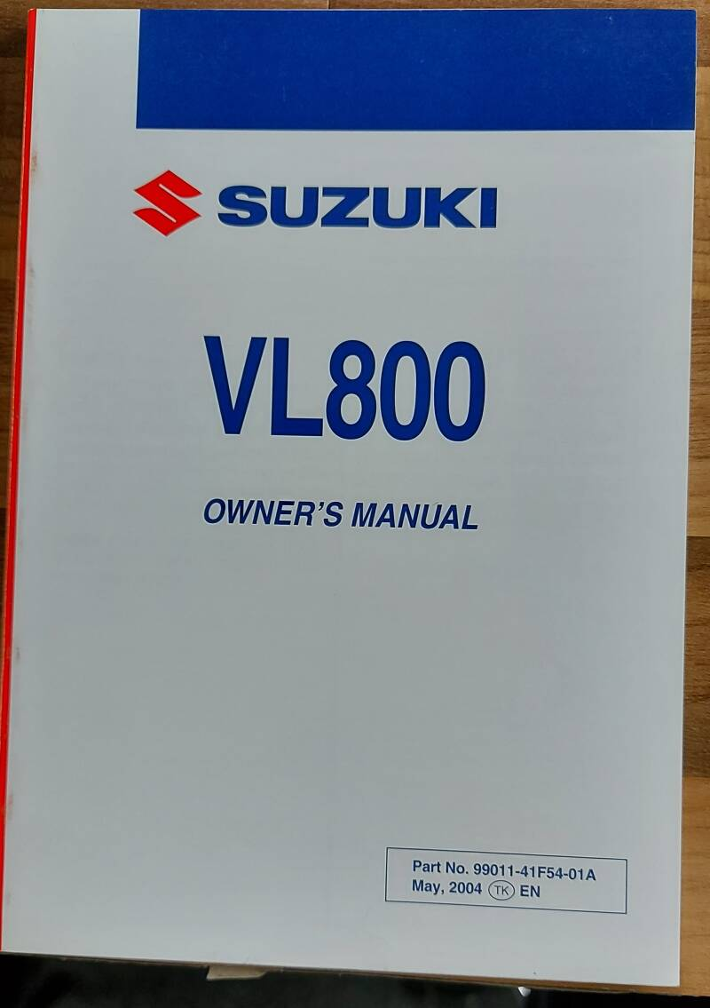 Owner's manual - 9901141F5401A - VL800