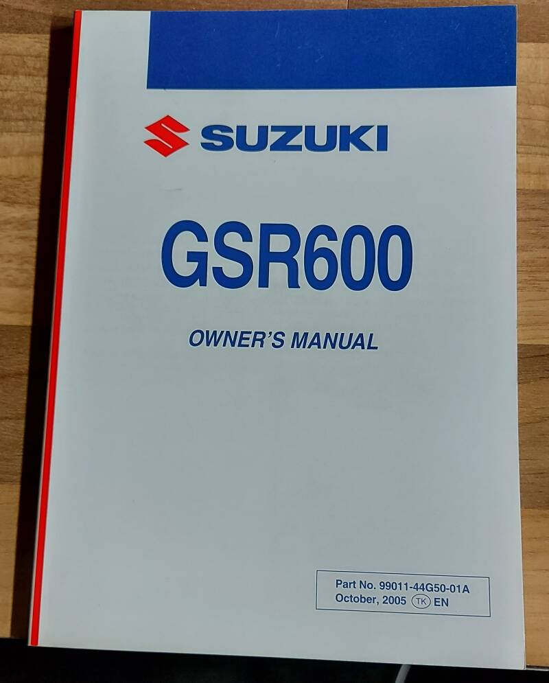 Owner's manual - 9901144G5001A - GSR600