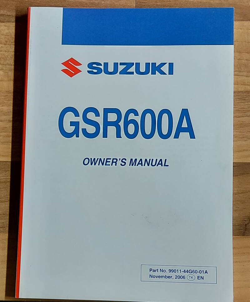 Owner's manual - 9901144G6001A - GSR600A