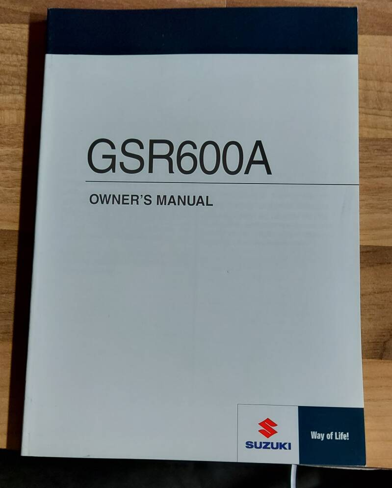 Owner's manual - 9901144G6301A - GSR600A