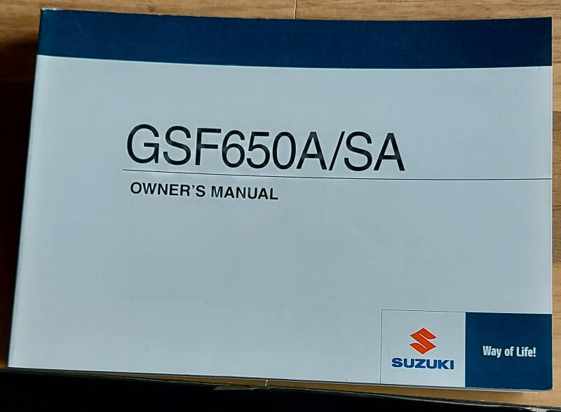 Owner's manual - 9901146H6101A - GSF650A/SA