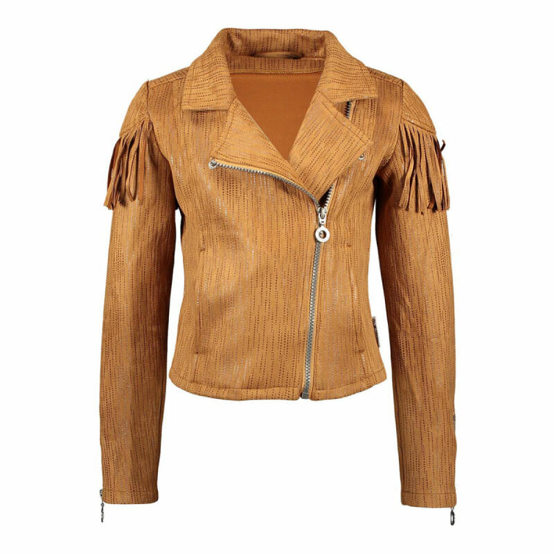 BIKERJACKET PALE BROWN