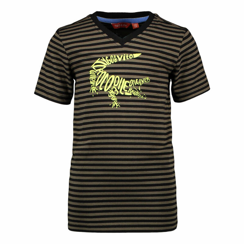 T-SHIRT STRIPE CROCODILE
