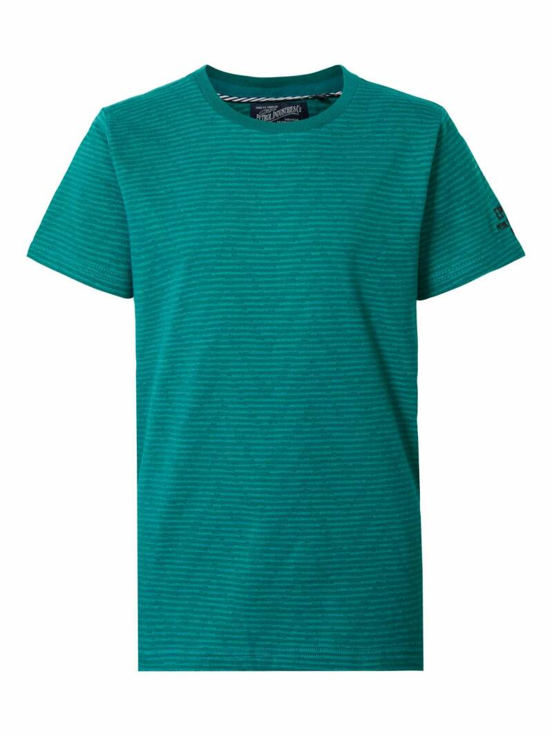 T-SHIRT STRIPED SWAMP GREEN