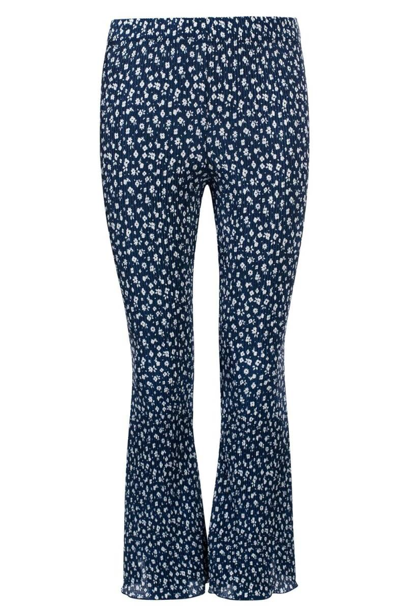 FLARED PANTS NAVY FLOWER