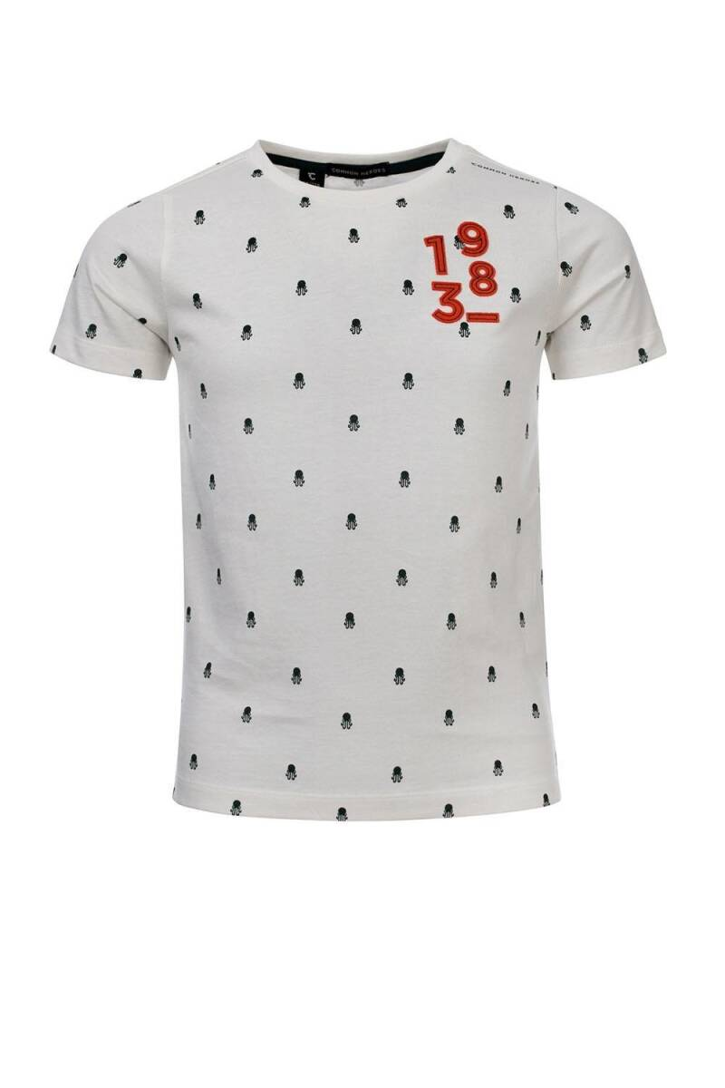 WIT T-SHIRT ALL-OVER KWAL PRINTJE