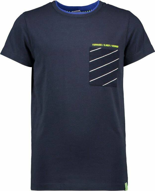T-SHIRT SMALL CHEST POCKET OXFORD BLUE