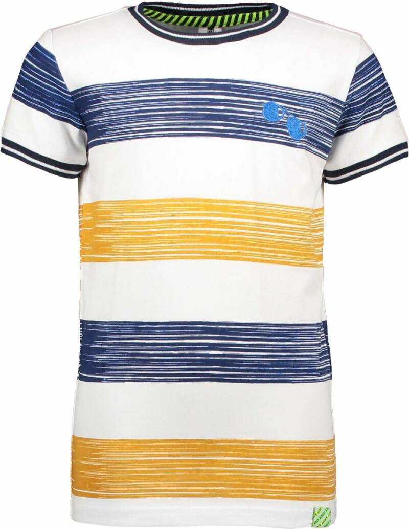 T-SHIRT WITH PRINTED STRIPE