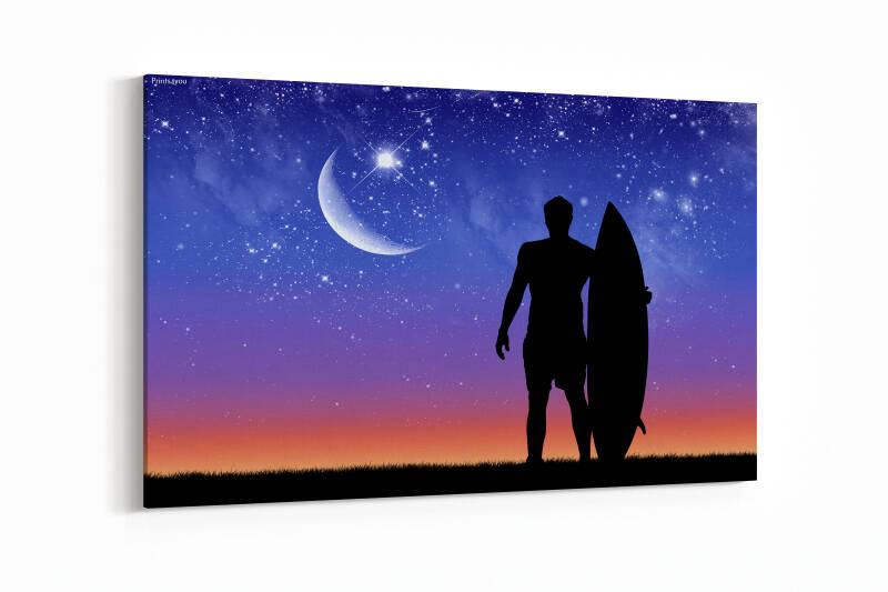 Silhouette of surfer