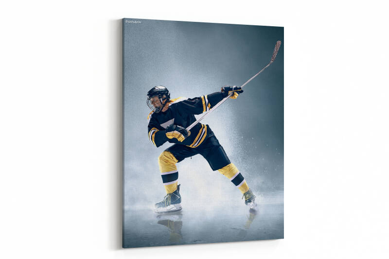 Ice hockey player in action on ice