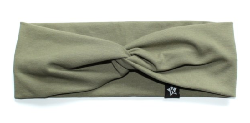 Twisted haarbandje | Olive green