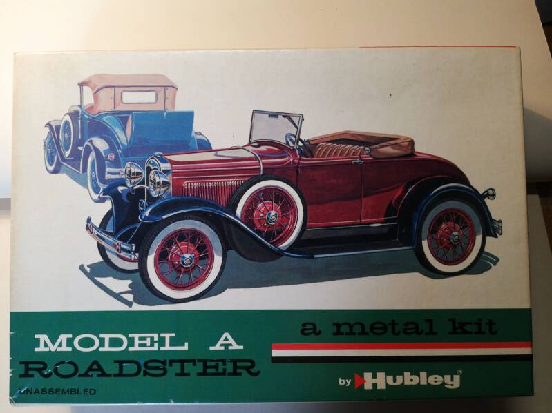 7#968 hubley bouwdoos A Ford Roadster