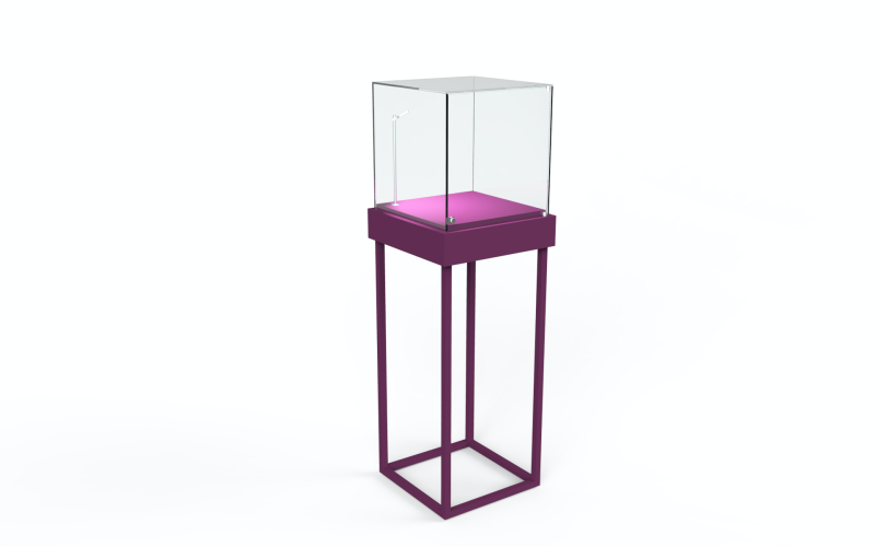 Display cube met vitrine en LED