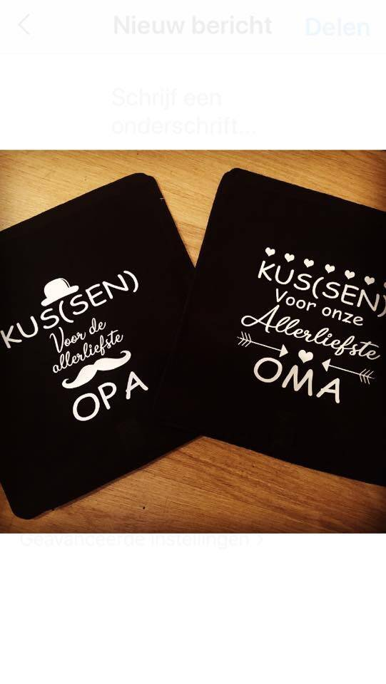 Opa of Oma Kussenhoes