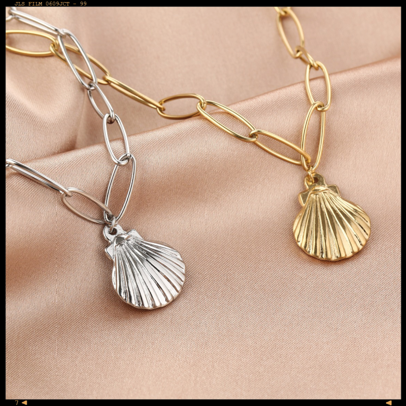 Necklace Chained Shell