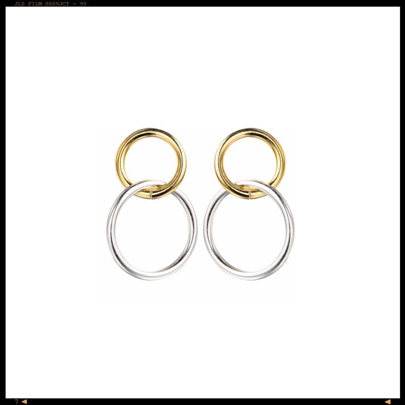 Earrings Double Hoops
