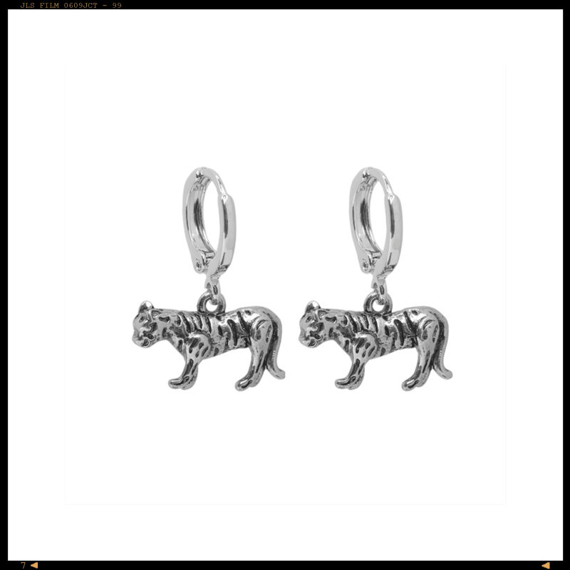 Earrings Tiger